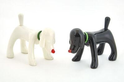 Yoshitomo Nara, 'Shinning Doggy (Black and White, set of Two)', 2015