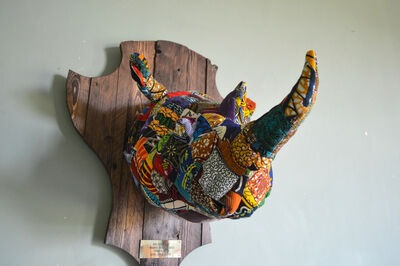 Louis Masai, ' Fauxdermy » - Hang your head - The rhino', 2019