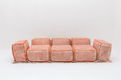 Faye Toogood, 'Maquette 234 / Canvas and Foam Sofa, Rust', 2020