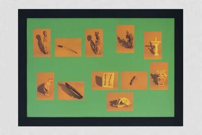 Cristobal Gracia, 'Vitrina II; lámpara de vapor de sodio y aberración cromática', 2018