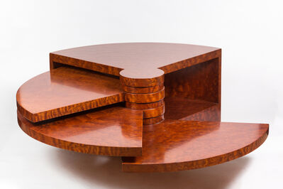 "Pierre Cardin, 'Rare Burl Wood ""Fan"" Coffee Table by Pierre Cardin', ca. 1970"
