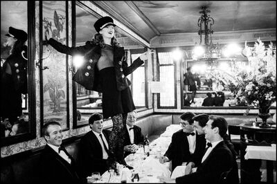 "Arthur Elgort, '""Kate Moss at Cafe Lipp, Paris""', 1993"