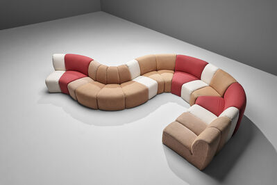 Pierre Paulin (1927-2009), 'Pierre Paulin for Artifort 'Mississippi' Sectional Sofa with 16 Elements', 1978