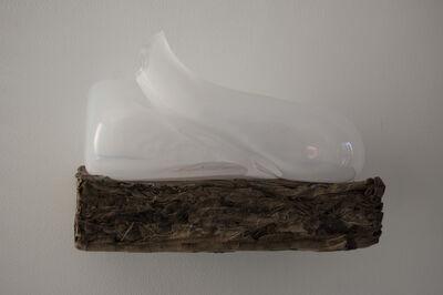 Marinke van Zandwijk, 'White glass on paper 1', 2018