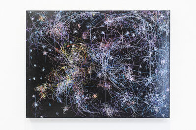 Kysa Johnson, 'Blow Up 325- the long goodbye (history of gold) - subatomic decay patterns and rapidly spinning neutron star PSR-B1509', 2019