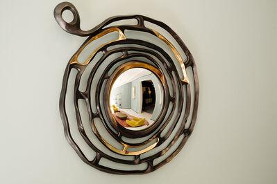 """Aldus, '""""Minosse,"""" Bronze Wall Mirror', 2014"""