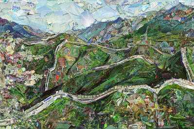 Vik Muniz, 'Postcards from Nowhere: Great Wall of China', 2014