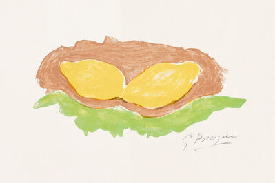 Georges Braque, 'Les Citrons (Lemons)', 1954
