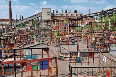 Daniel Buren, 'Dans les filets, la couleur', 2012