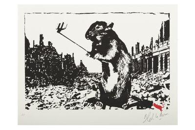 Blek le Rat, 'Selfie Rat', 2016