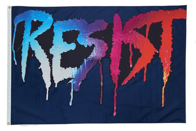 Marilyn Minter, 'RESIST FLAG', 2017