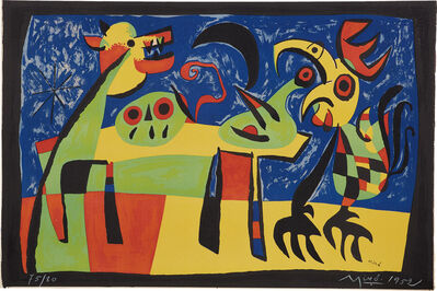 Joan Miró, 'Le Chien aboyant à la lune (Dog Barking at the Moon) (M. 189)', 1952