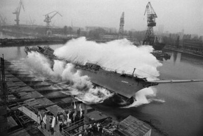 Sebastião Salgado, 'A ship is launched. Shipyards of Gdansk. Poland.', 1990