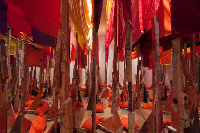 Phyllida Barlow, 'Untitled:100banners2015', 2015