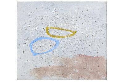 John Wells, 'Blue and ochre ovals'