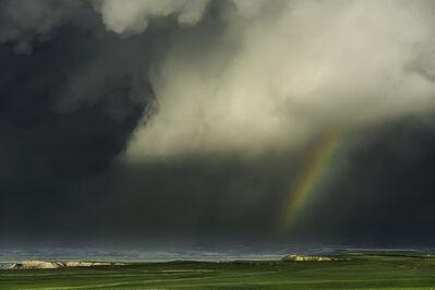 Eric Meola, 'Rainbow and Rainstorm. Oglala Grasslands, Nebraska', 2014