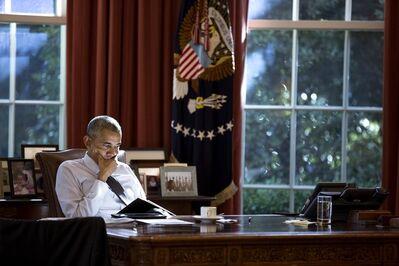Pete Souza, 'Reading at the Resolute Desk', 2016