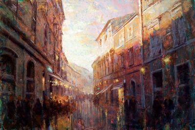 Christopher Clark, 'Bustling Alley at Dusk', 2021