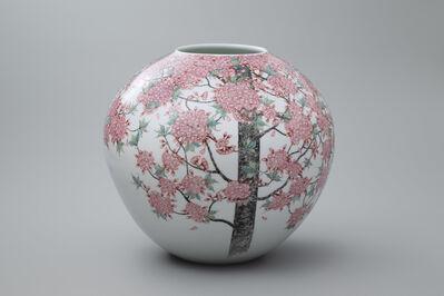 Obata Yuji, 'Yae (Double Tree) Cherry Blossoms', 2018