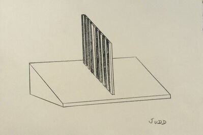 Donald Judd, 'Untitled (Working sketch)', ca. 1963