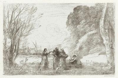 Jean-Baptiste-Camille Corot, 'Une Famille à Terracine.', 1871