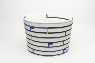 Bodil Manz, 'Oval Form with Black, Blue and Yellow', 2010