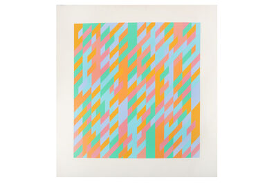 Bridget Riley, 'To Midsummer', 1989