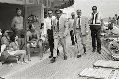 Terry O'Neill, 'Frank Sinatra, Miami Boardwalk - Black & White', 1968