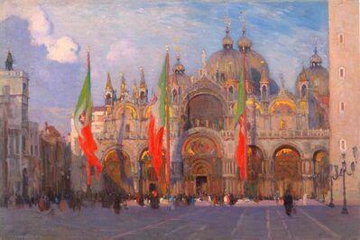 Aldro Thompson Hibbard, 'San Marco, Venice, Italy', 1914