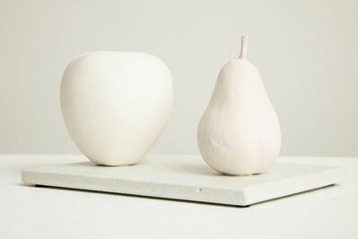 Anat Shiftan, 'Still Life in White with Apple and Pear', 2017