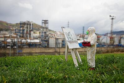 "Isaac Cordal, '""impressionism""', 2017"