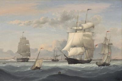 Fitz Henry Lane, 'New York Harbor', 1852