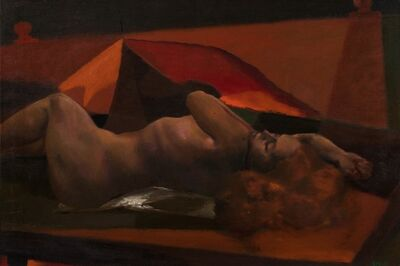 Ugo Attardi, 'Laying woman'