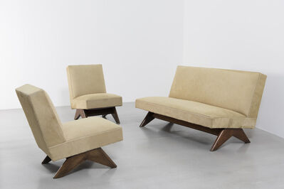 Pierre Jeanneret, 'Sofa set ', ca. 1955-1956