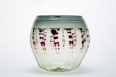 Dale Chihuly, 'Seafoam Green & Oxblood Basket, Handblown Glass Contemporary Art', 1900-2010