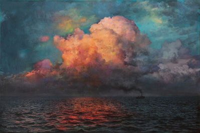 Stev'nn Hall, 'Evening on the Sea No.1', 2019