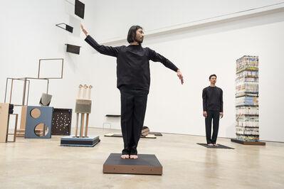 Suki Seokyeong Kang, 'Seoul-based performers Heyongjun Cho and Hongseok Jang conducting a special activation of artist Suki Seokyeong Kang's work ', 2018