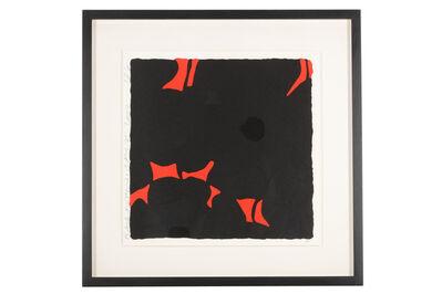 Donald Sultan, 'Black Poppies'