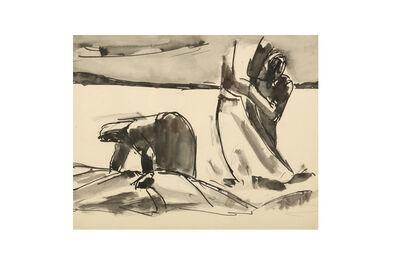 Josef Herman RA, 'Harvesting'