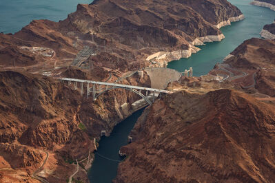 Jamey Stillings, 'Aerial View, July 31, 2010, from the Bridge at Hoover Dam', 2010
