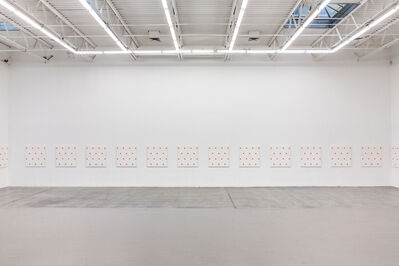 Niele Toroni, '25 paintings (Installation view)', 1987