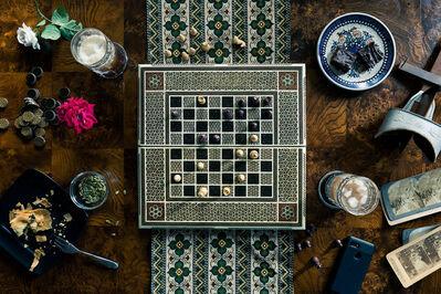 Christos J. Palios, 'Chess, Stereoscope, & Garden Roses', 2020