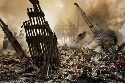 Steve McCurry, ' Wreckage at Ground-Zero, New York, 12 September, 2001', 2001