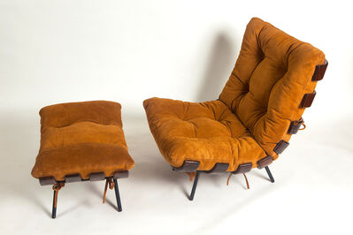 Carlo Hauner & Martin Eisler, 'Costela Lounge Chair with Ottoman', 1950s