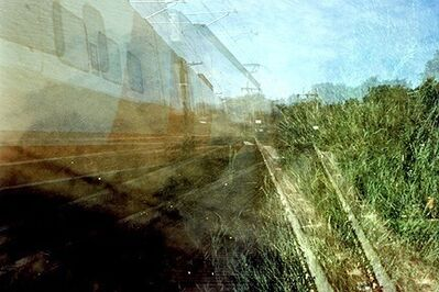 Leah Oates, 'Turku, Finland, Double Train', 2005-06