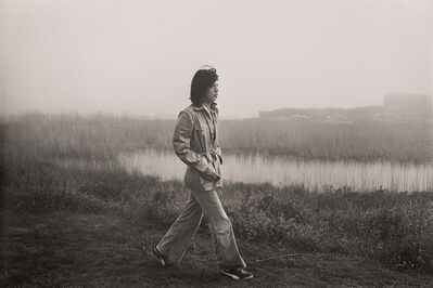 Ken Regan, 'Mick Jagger on the grounds of Andy Warhol's Montauk home in 1975', 1975
