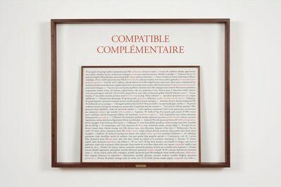 Sophie Calle, 'Compatible complémentaire', 2017