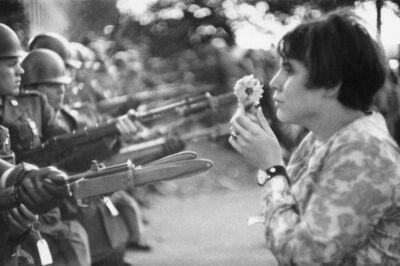 Marc Riboud, 'Jan Rose Kasmin confronts the American National Guard outside the Pentagon, Washington D.C., USA', 1967