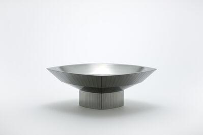 Chung Yongjin, 'High-Heeled Cushion Shape Shallow Bowl with Facets', 2017