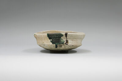 Shiro Tsujimura, 'Tea bowl, Oribe style, created in Devon', 1993